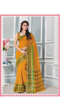 Mango Yellow With Green Golden Border