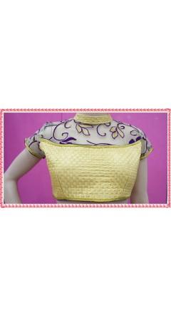 Elegant Golden & Purple Embroidery Designs