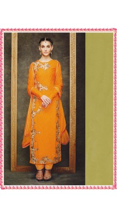 Amber Colour Straight Suit