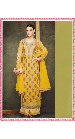 Banana Yellow With Embroidery Designs