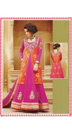 Bright Combination of Rani Pink & Orange