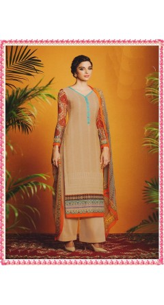 Beige With Kashmir Buta