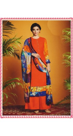 Orange With Colourful Designs