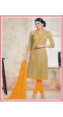 Golden Colour & Mustard Yellow With Embroidery Works