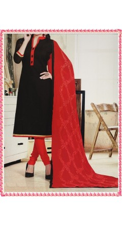 Black & Red With Embroidery Designs