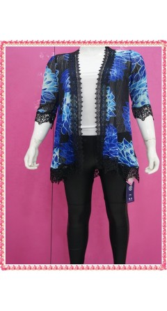 Pepsi Blue With Black Lace