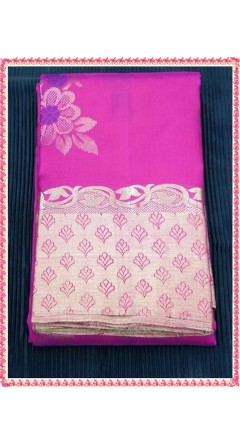 Attractive Combination of Rani Pink With Leaf Green